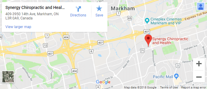Map of Markham Chiropractors